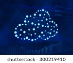 cloud computing on business... | Shutterstock . vector #300219410
