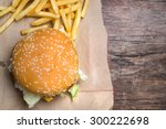 still life with fast food... | Shutterstock . vector #300222698