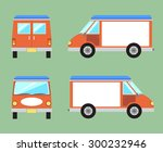 van with space for text. van...   Shutterstock .eps vector #300232946