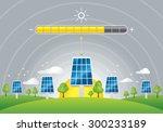 solar panels energy charging  | Shutterstock .eps vector #300233189