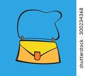 woman's bag | Shutterstock .eps vector #300234368