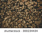 Dry Firewood In A Pile For...