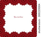 wedding invitation card suite... | Shutterstock .eps vector #300235004