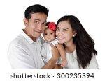 happy asian family portrait....   Shutterstock . vector #300235394