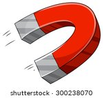 u shape magnet with north and...   Shutterstock .eps vector #300238070