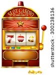 slot machine with golden coins | Shutterstock .eps vector #300238136