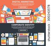 digital marketing  corporate... | Shutterstock .eps vector #300243578