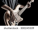 Bassist Playing Electric Bass...