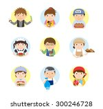 icons   various work set2 | Shutterstock .eps vector #300246728