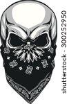 skull bandana | Shutterstock .eps vector #300252950