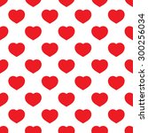 red big hearts   seamless... | Shutterstock .eps vector #300256034