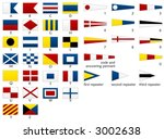 nautical signal flags | Shutterstock .eps vector #3002638