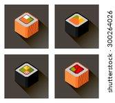 flat sushi set | Shutterstock .eps vector #300264026
