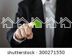 businessman choosing house ... | Shutterstock . vector #300271550
