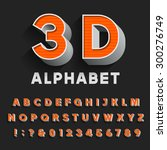 retro type font with shadow.... | Shutterstock .eps vector #300276749