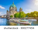 Stock photo beautiful view of berliner dom berlin cathedral at famous museumsinsel museum island with 300277454