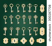 Vintage Golden Keys And...