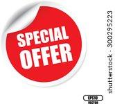 special offer red sticker ... | Shutterstock .eps vector #300295223
