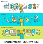 set of thin line flat design... | Shutterstock .eps vector #300295433