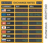 foreign currency exchange rates.... | Shutterstock .eps vector #300297260