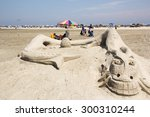 Sand Sculpture Event Held At...