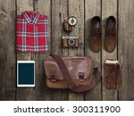 hipster clothes and accessories ... | Shutterstock . vector #300311900