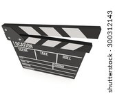 cinema clapperboard. 3d render... | Shutterstock . vector #300312143
