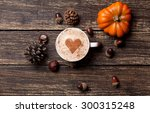 Cup Of Coffee With Heart Shape...