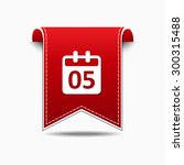 calender sign red vector icon...   Shutterstock .eps vector #300315488