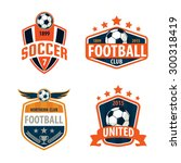 football logo template... | Shutterstock .eps vector #300318419