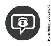 purse with bitcoin symbol in... | Shutterstock . vector #300324143