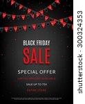 design of the flyer of black... | Shutterstock .eps vector #300324353