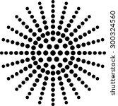 vector halftone dots circle... | Shutterstock .eps vector #300324560