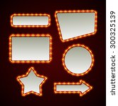 set of retro light frames.... | Shutterstock .eps vector #300325139