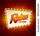 shining retro light banner. ... | Shutterstock .eps vector #300325244