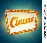 shining retro light banner. ... | Shutterstock .eps vector #300325340