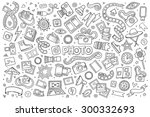 photo doodles hand drawn... | Shutterstock .eps vector #300332693