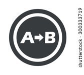 letters a  b icon in circle