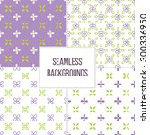 set of seamless pattern with... | Shutterstock .eps vector #300336950