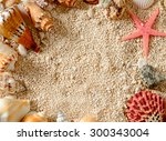 Sea Shells And Star Fish On Th...