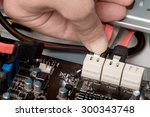 connecting cord computer | Shutterstock . vector #300343748