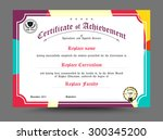 diploma certificate template... | Shutterstock .eps vector #300345200