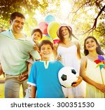 family happiness parents... | Shutterstock . vector #300351530