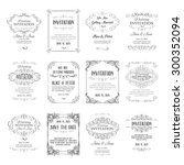 set of vintage template with... | Shutterstock .eps vector #300352094