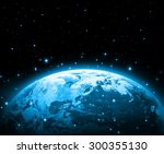 earth on a background of the... | Shutterstock . vector #300355130