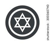 star of david symbol in circle  ...