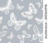 vector butterflies pattern.... | Shutterstock .eps vector #300363998