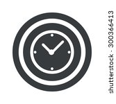 image of clock in circle  on...