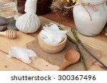 coconut and milk   oil coco for ... | Shutterstock . vector #300367496