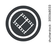 image of film strip in circle ...
